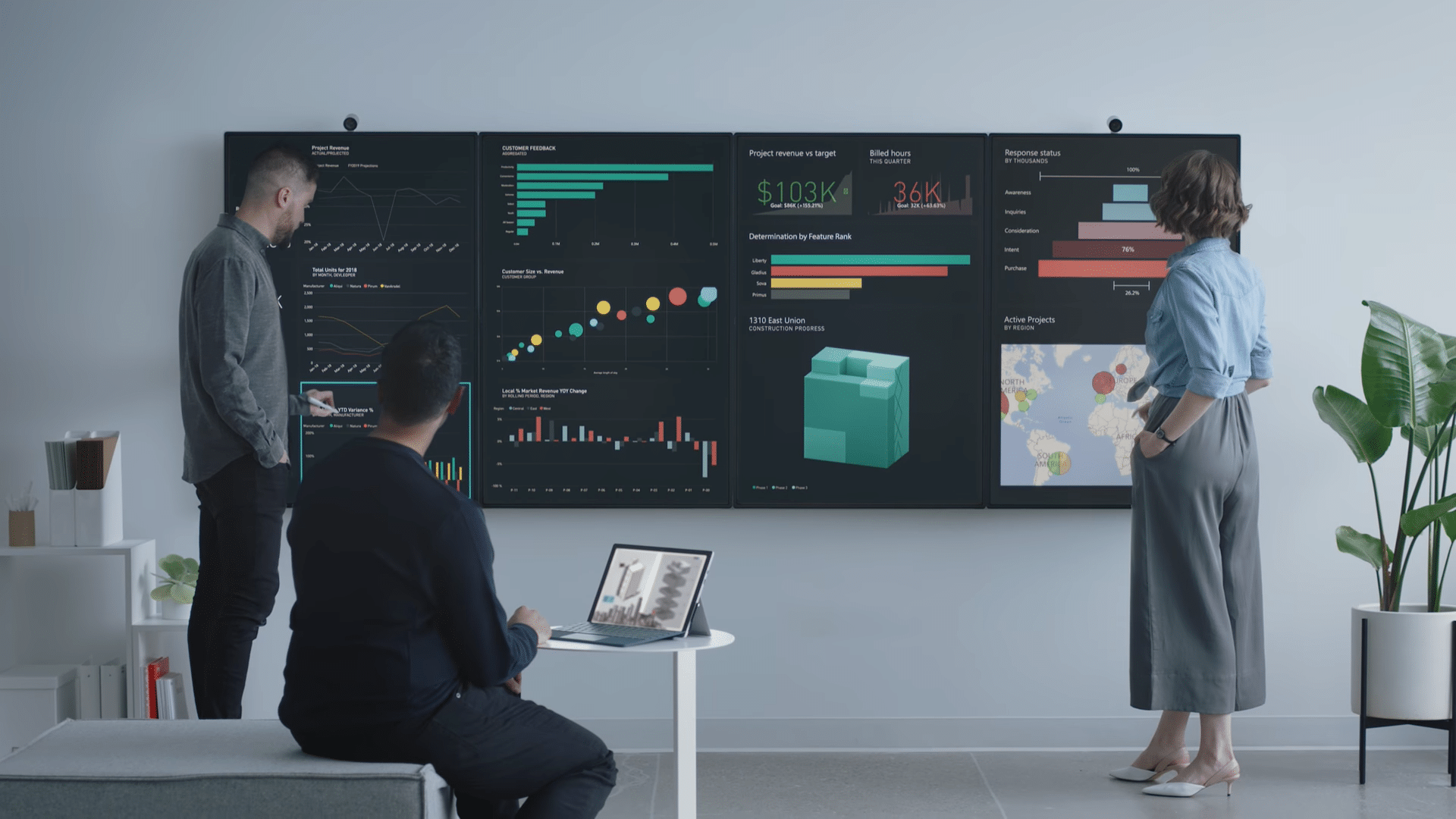 Microsoft Surface Hub 2 Is A 50.5 Inch Computer With A 4K+ Display And Windows 10