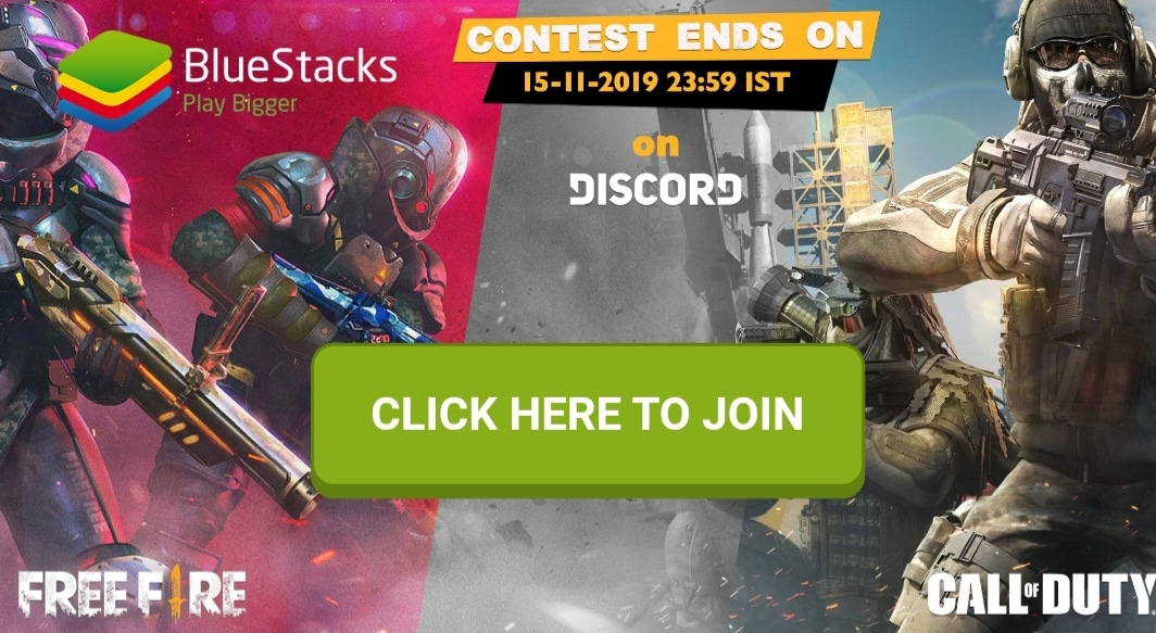 BlueStacks Call of Duty: Mobile and Free Fire Contest giving away 50,000 INR to lucky winners (October 2019)